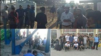 ادامه اعتصاب کارگران در پالایشگاهها در نهمین روز