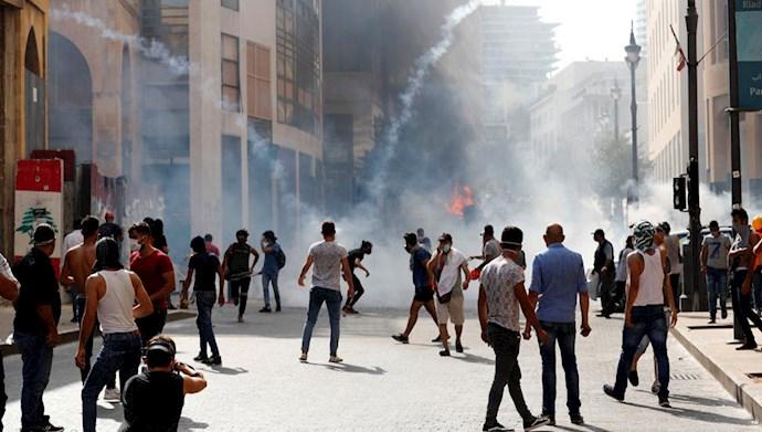 تظاهرات مردم خشمگین در بیروت - 3