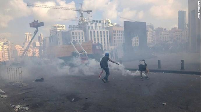 تظاهرات و درگیری مردم خشمگین بیروت - 7