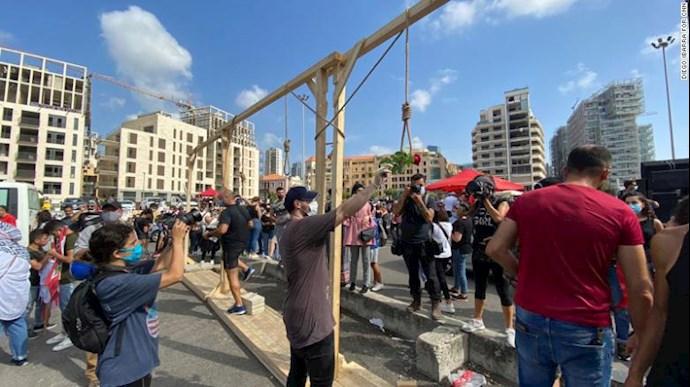 تظاهرات مردم بیروت - ۱۸مرداد۹۹ - 8