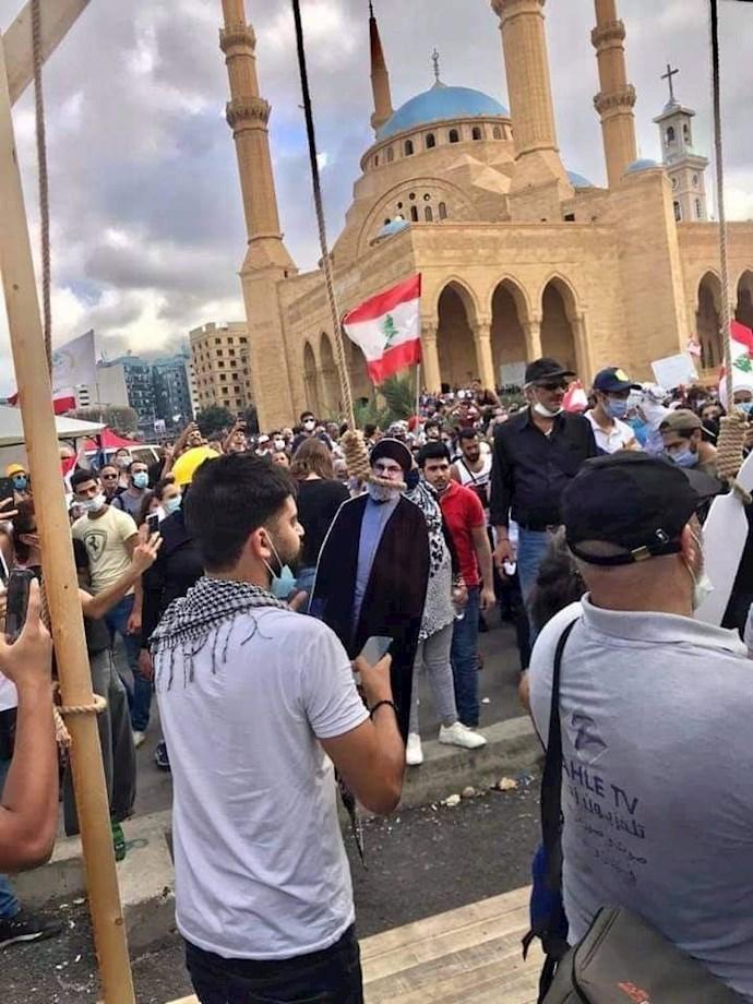 تظاهرات مردم بیروت - ۱۸مرداد۹۹ - 14