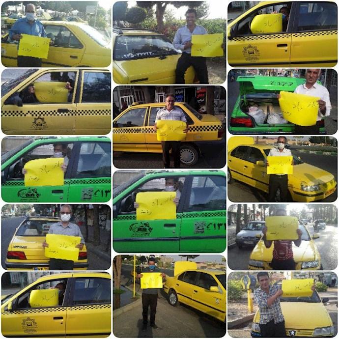 -اعتصاب رانندگان تاکسی سبز وار