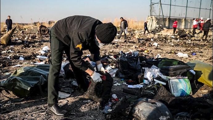 سقوط هواپیمای اوکراینی با شلیک پدافند سپاه پاسداران