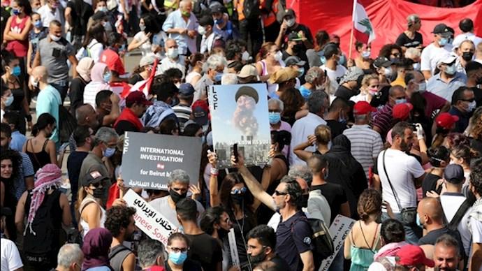 تظاهرات مردم خشمگین در بیروت - 0