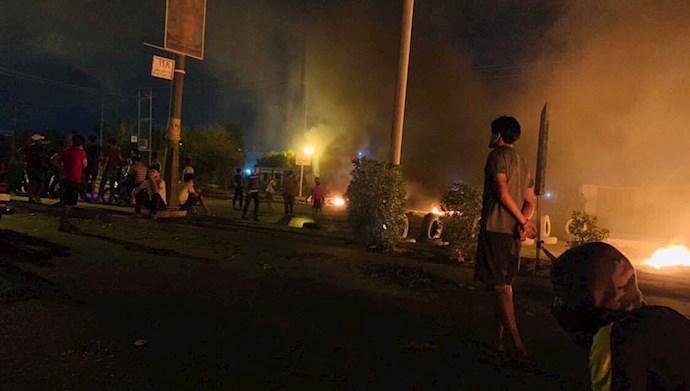 تظاهرات و درگیری در عراق علیه شبهنظامیان وابسته به رژیم ایران