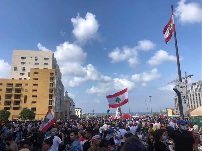 تظاهرات مردم بیروت - ۱۸مرداد۹۹ - 13