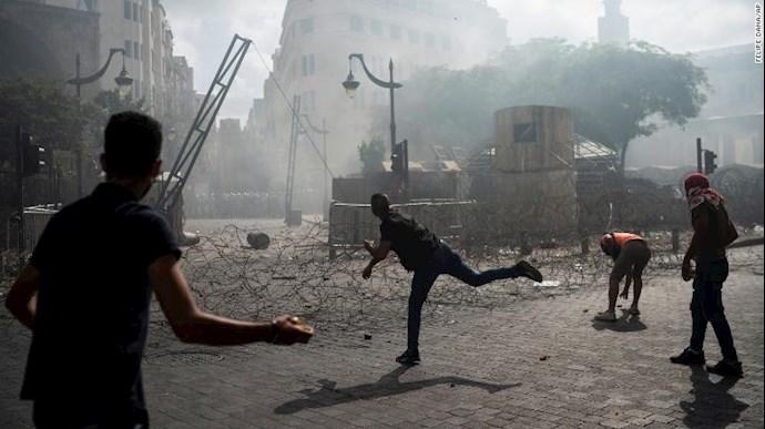 تظاهرات مردم بیروت - ۱۸مرداد۹۹ - 9