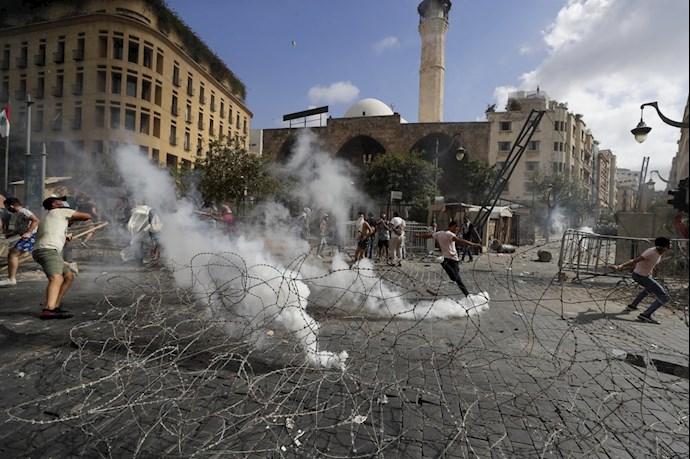 تظاهرات و درگیری مردم خشمگین بیروت - 3