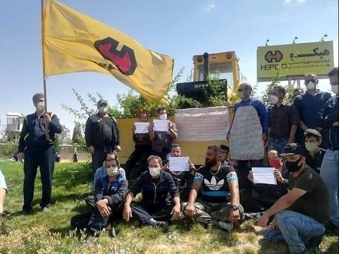 -تجمع کارگران هپکو در دومین روز اعتصاب