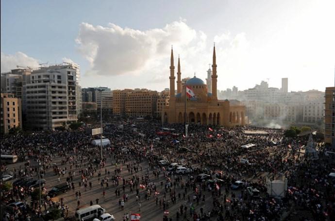 تظاهرات مردم بیروت - ۱۸مرداد۹۹ - 6