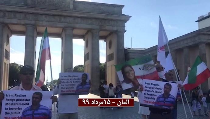 اعتراض یاران شورشگر در فرانسه، آلمان، ایتالیا و کانادا به اعدام وحشیانه زندانی قیامی مصطفی صالحی