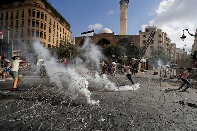 تظاهرات مردم بیروت - ۱۸مرداد۹۹ - 4