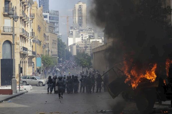 تظاهرات و درگیری مردم خشمگین بیروت - 9