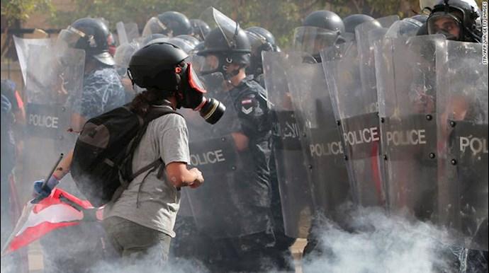 تظاهرات مردم خشمگین بیروت ۱۸مرداد۹۹