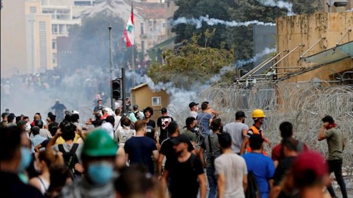 تظاهرات و درگیری مردم خشمگین بیروت - 8