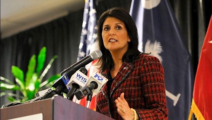 نیکی هیلی سفیر پیشین آمریکا در سازمان ملل