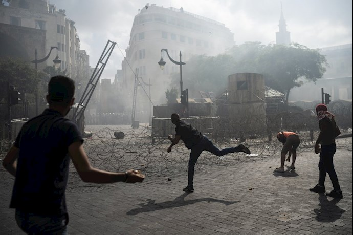 تظاهرات و درگیری مردم خشمگین بیروت - 2