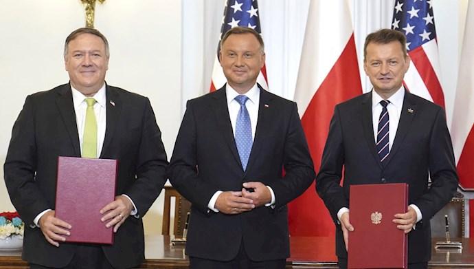 توافقنامه همکاری دفاعی آمریکا با لهستان