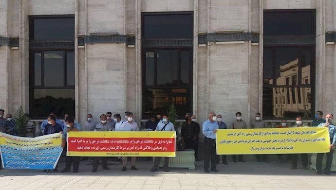 تجمع اعتراضی  کارگران رسمی راه آهن آذربایجان