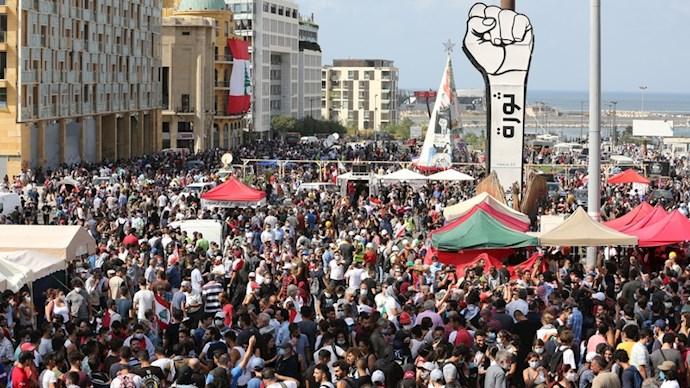 تظاهرات مردم خشمگین در بیروت - 1