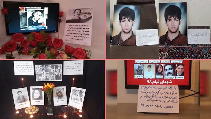 فعالیت کانونهای شورشی در شهرهای میهن و گرامیداشت شهدای قیام آبان ۹۸