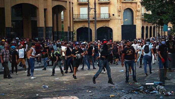 تظاهرات مردم و جوانان لبنان