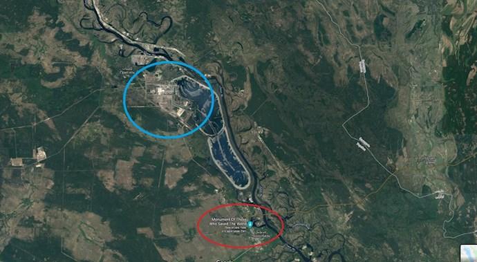 موقعیت نیروگاه چرنوبیل