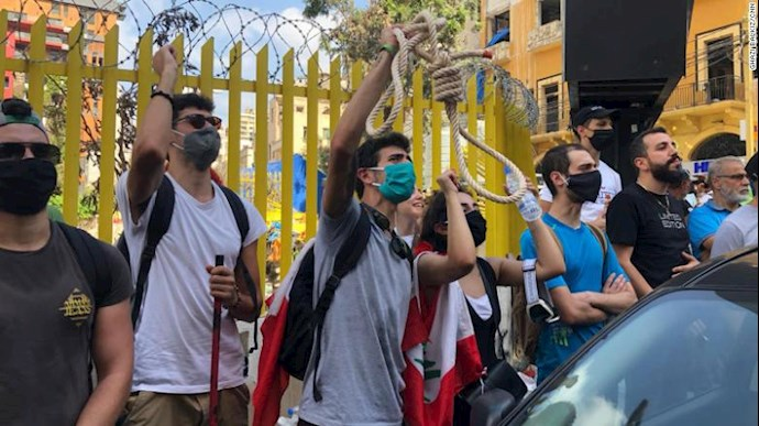 تظاهرات مردم بیروت - ۱۸مرداد۹۹ - 7