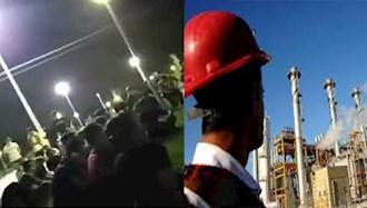 ایذه:تجمع شب گذشته برخی از جوانان شاغل در پروژههای نفت و گاز جنوب