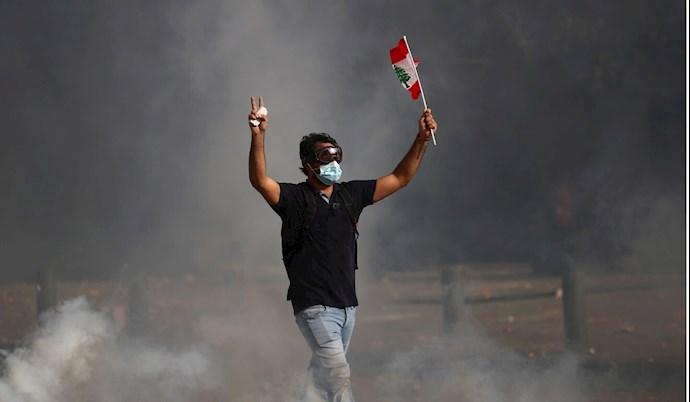 تظاهرات مردم بیروت - ۱۸مرداد۹۹ - 1