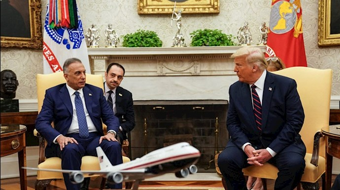 دونالد ترامپ رئیس جمهور آمریکا - کاظمی نخست وزیر عراق