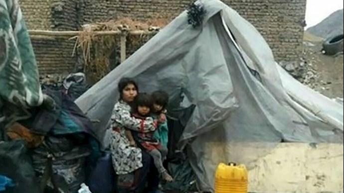 تصویری از زندگی یک خانواده ۵نفره در حومه خرمآباد