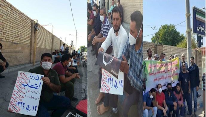 پنجاه و ششمین روز اعتصاب کارگران نیشکر هفتتپه