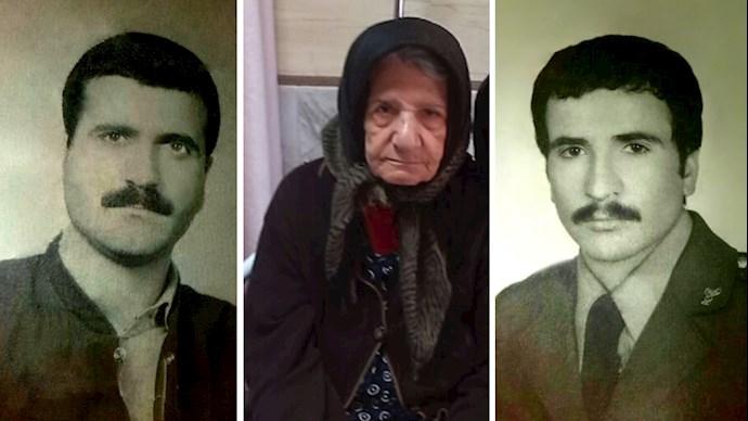 تصویری از مادر زهرا معروفی در کنار پسرانش منصور و ماشاءالله پایدار آرانی