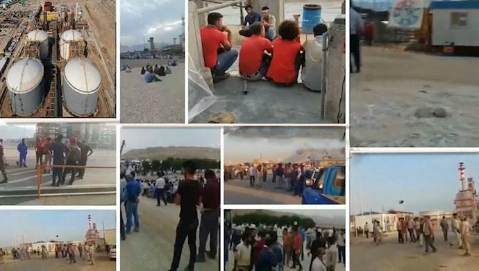 تداوم اعتصاب کارگران صنایع نفت و پتروشیمی و نیروگاهها