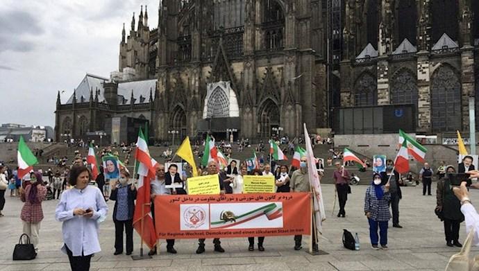 تظاهرات در کلن – آلمان: حمایت از زندانیان سیاسی