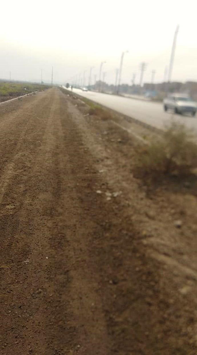 اقدام جنایتکارانه رژیم و درست کردن بلوار بر مزار شهدای قتلعام مجاهدین در اهواز - 1