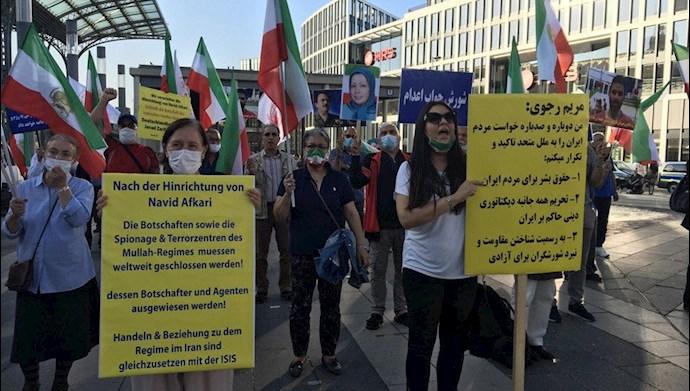 تظاهرات یاران شورشگر در شهر کلن