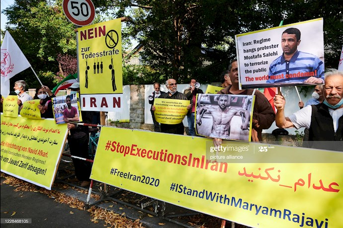 گتی ایمیجز: تظاهرات دربرلین علیه اعدام نوید افکاری - 4