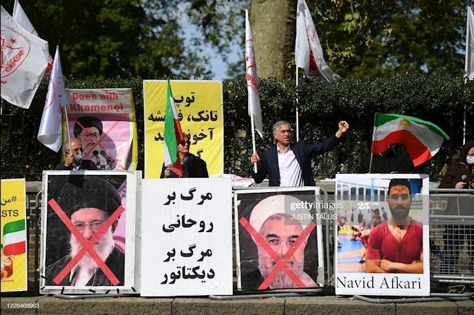 گتی ایمیجز: تظاهرات در لندن علیه اعدام نوید افکاری - 1