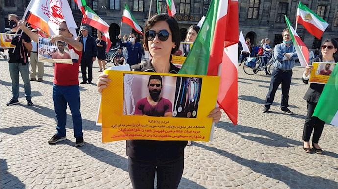 تظاهرات اشرف نشانان و یاران شورشگر در کشورهای جهان علیه اعدام نوید افکاری