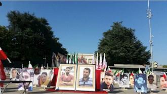 تظاهرات  یاران اشرف نشان و شورشگر در حمایت از مقاومت ایران در  میدان ناسیون ژنو