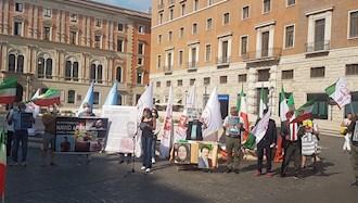 تظاهرات  یاران اشرف نشان و شورشگر در حمایت از مقاومت ایران در ایتالیا