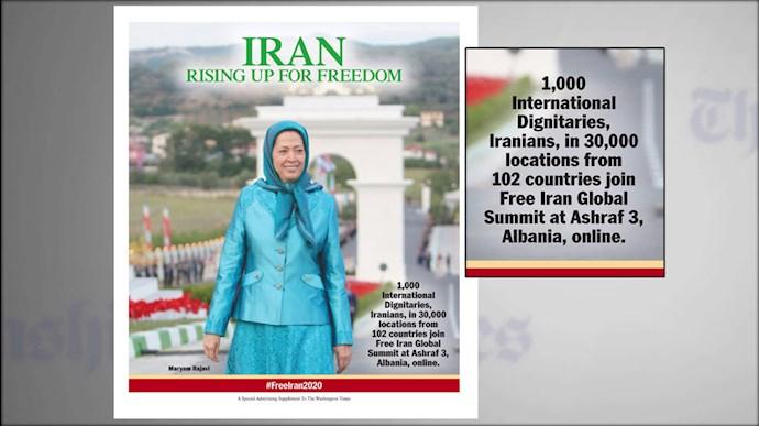 ویژه نامه واشنگتن تایمز: ایران برای آزادی بهپا میخیزد