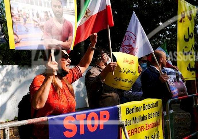 آسوشیتدپرس: تظاهرات در برلین علیه اعدام نوید افکاری - 3