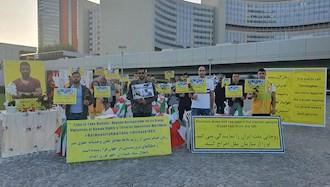 تظاهرات  یاران اشرف نشان و شورشگر در حمایت از مقاومت ایران در  وین - مقابل سازمان ملل متحد