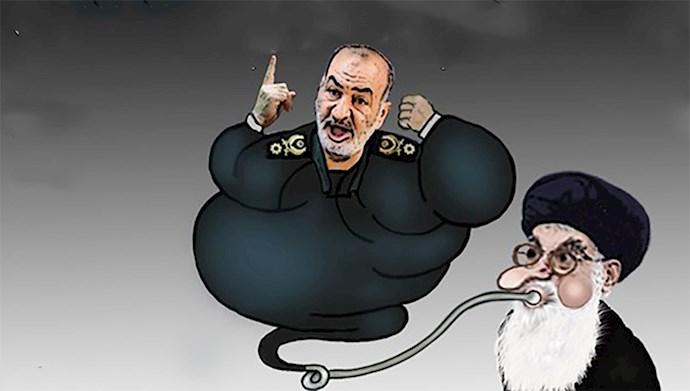 علی خامنهای و پاسدار حسین سلامی