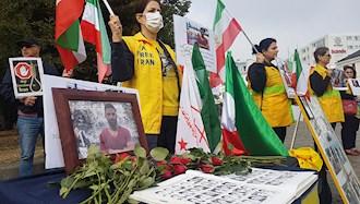 تظاهرات  یاران اشرف نشان و شورشگر در حمایت از مقاومت ایران در مالمو