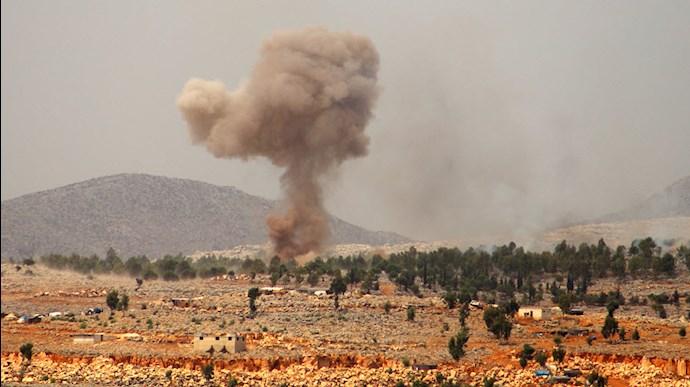 حمله هوایی به پایگاههای شبه نظامیان رژیم ایران در سوریه