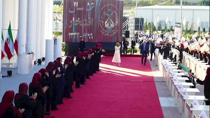 خانم مریم رجوی درمراسم پنجاه و ششمین سال تاسیس سازمان مجاهدین خلق ایران